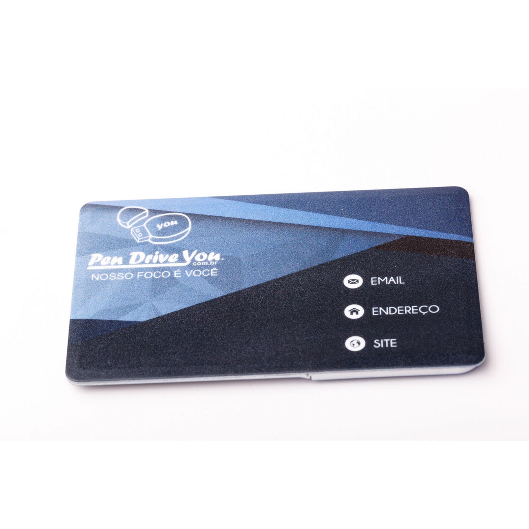 Pen Card Plástico Branco Retangular Canivete Personalizado