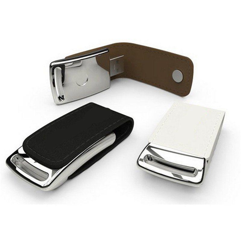 Pen Drive 16GB de Courinho Preto Personalizado para Chaveiro