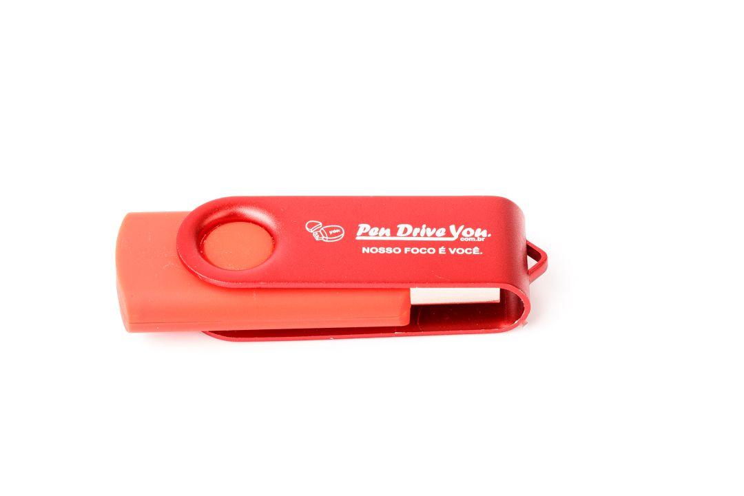 Pen Drive 16GB Giratório Full Color - Amarelo e Preto  Personalizado