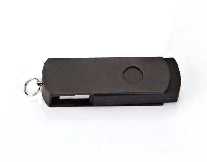 Pen Drive 4GB Giratório Alumínio Todo Preto com Personalização  - Pen Drive You