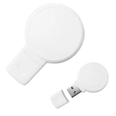 Pen Drive 4GB Plástico Balão Branco Personalizado