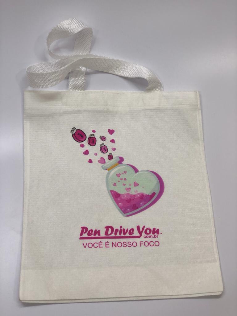Sacola Ecobag PET Branca 25x30 Personalizada  - Pen Drive You