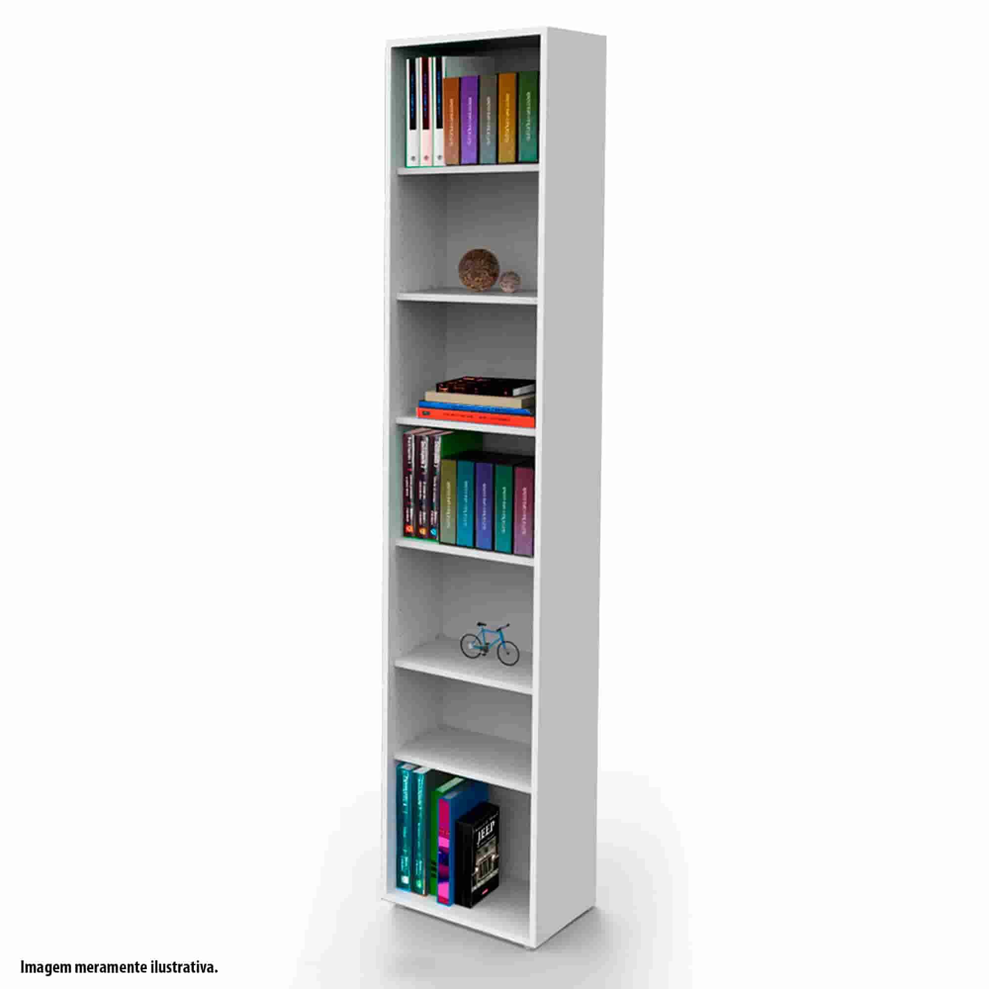 Estante biblioteca para livros bookcase branca BK01BR Bürohaus