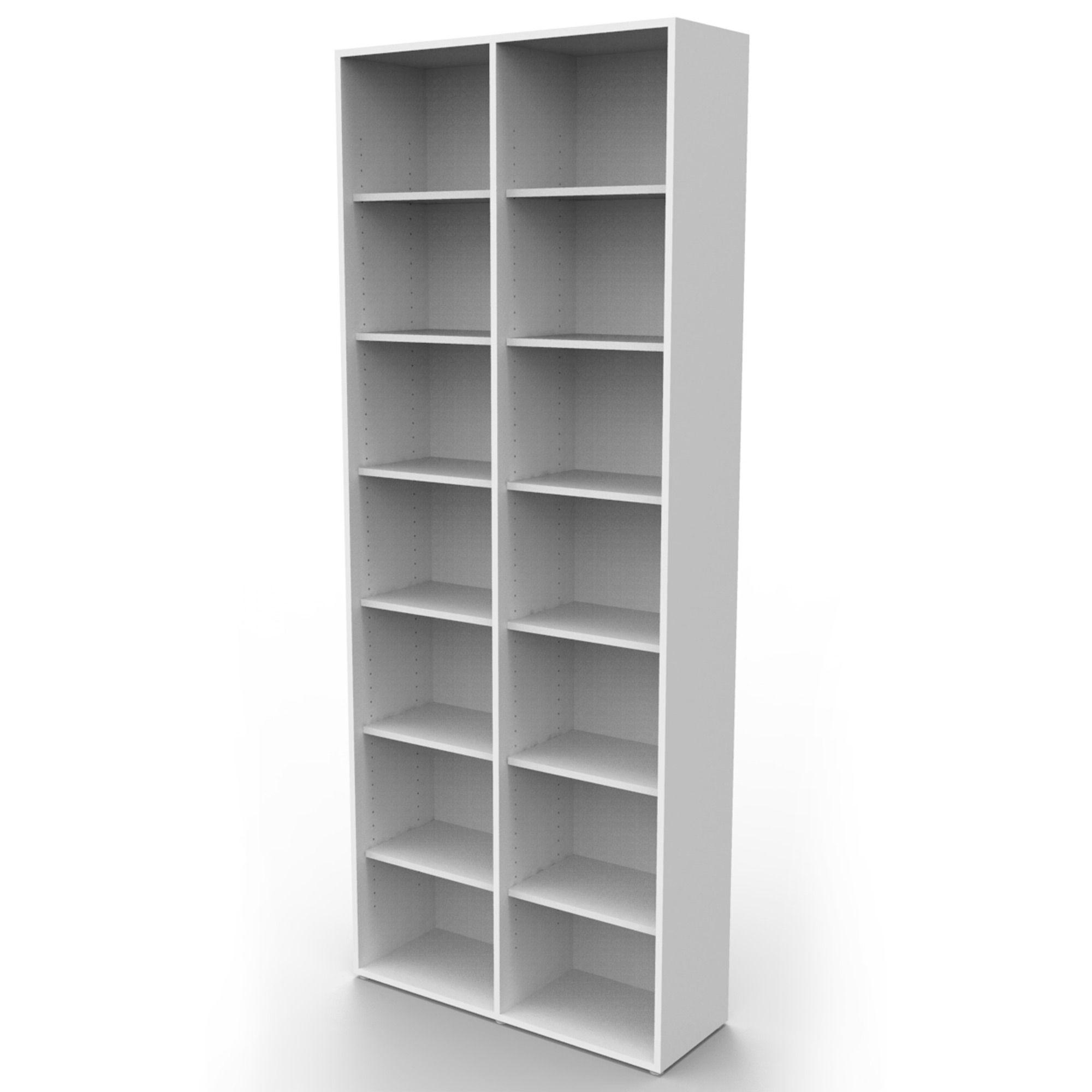 Estante biblioteca para livros bookcase branca BK02BR Bürohaus