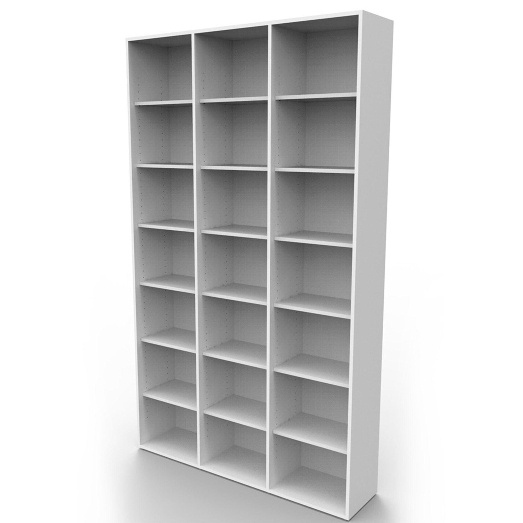 Estante biblioteca para livros bookcase branca BK03BR Bürohaus
