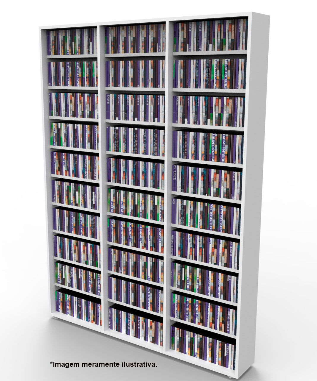 Estante para 1080 CDs branca CD03BR Bürohaus