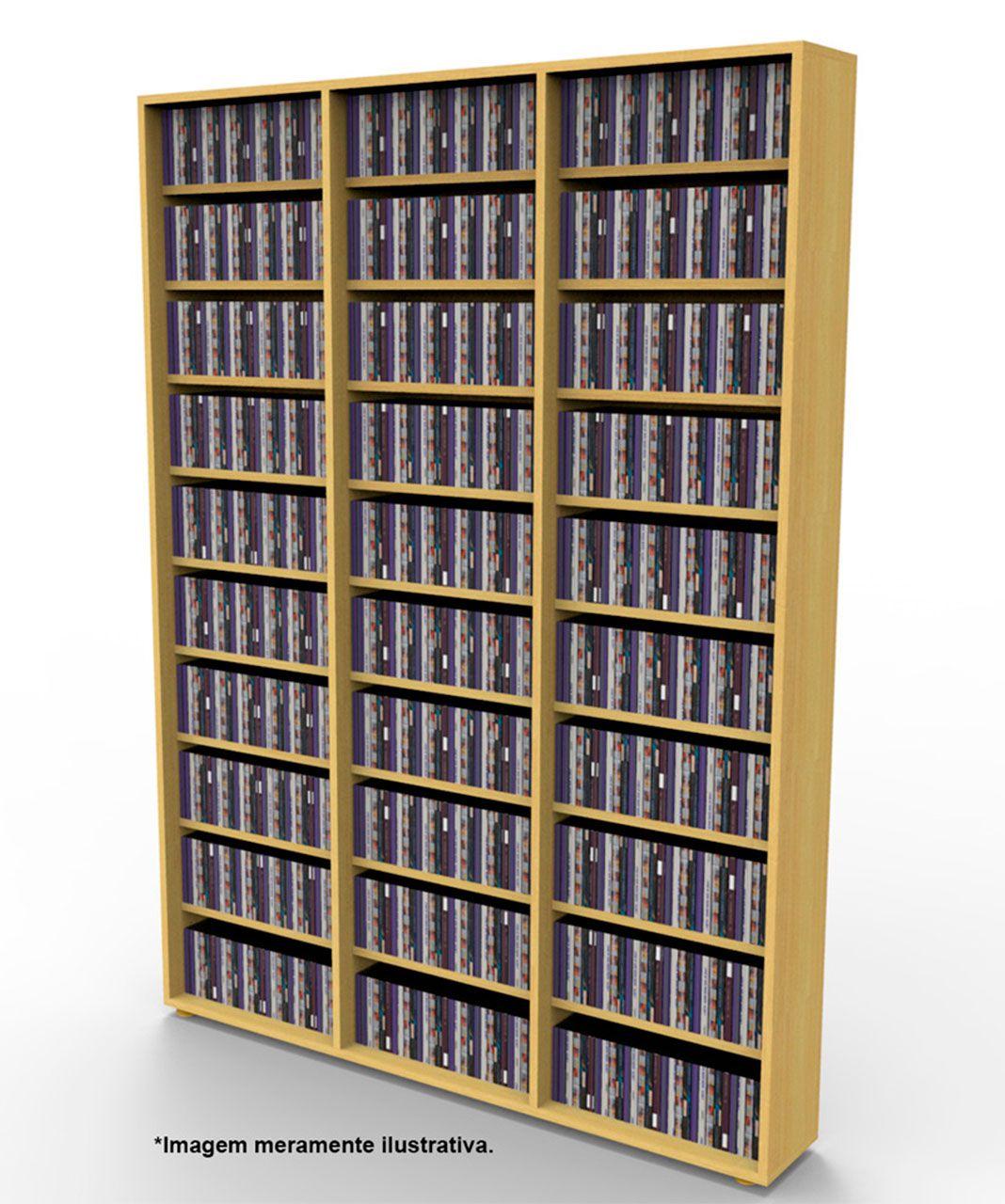 Estante para 1080 CDs marfim CD03MF Bürohaus