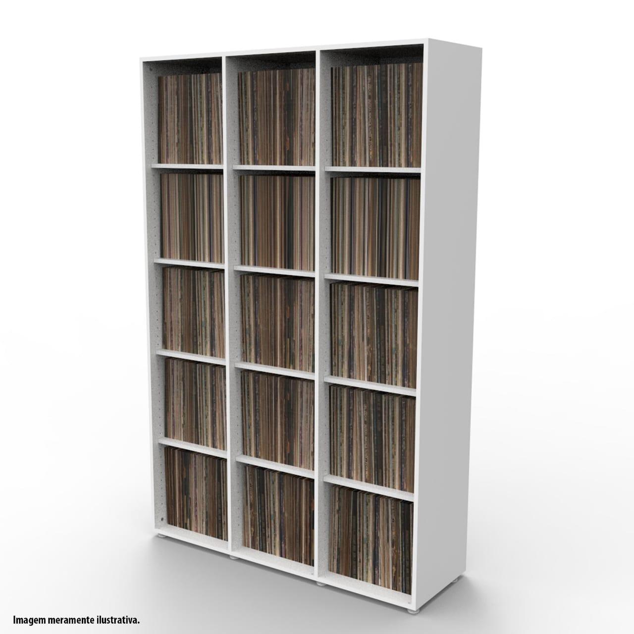 Estante para 1350 discos LP vinil branca VN03BR Bürohaus