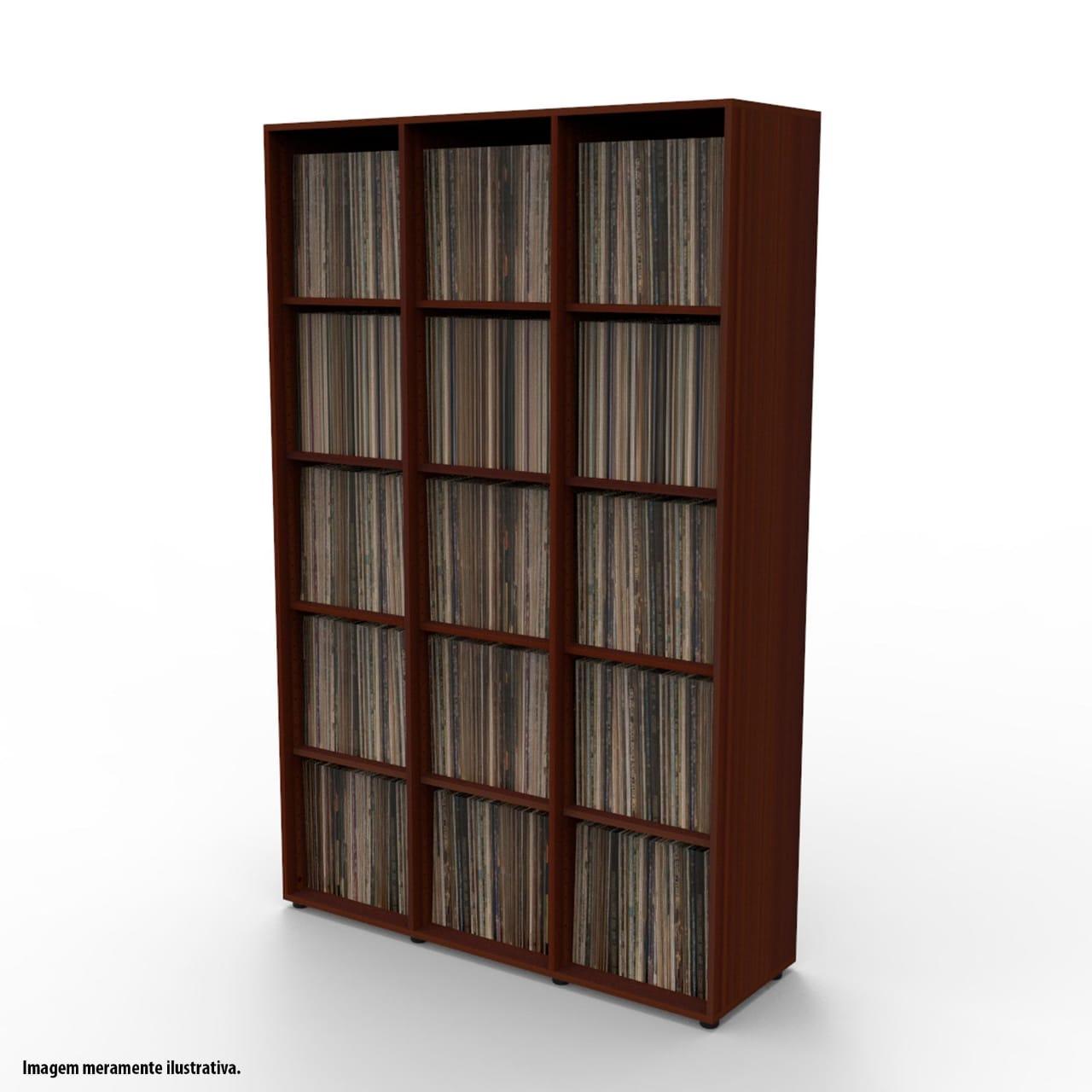 Estante para 1350 discos LP vinil tabaco VN03TB Bürohaus