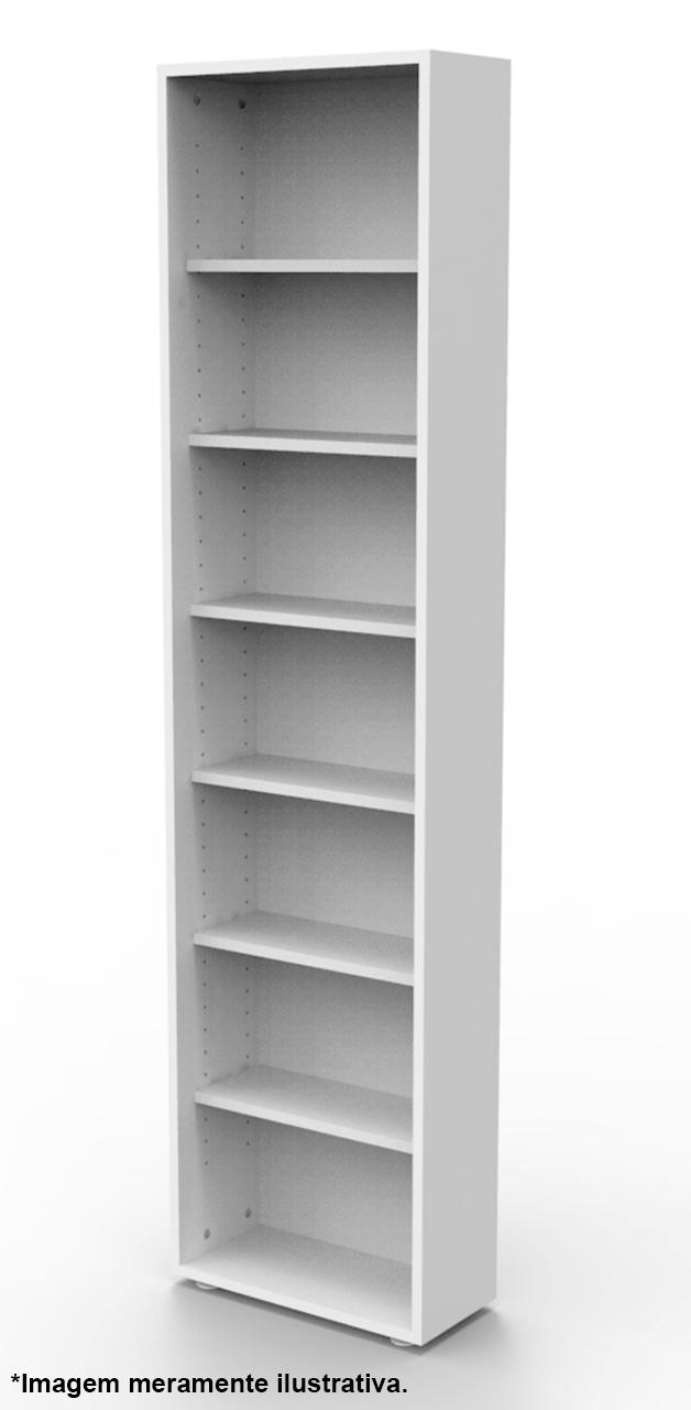 Estante para 168 DVD ou Blu-ray ou para gibis branca DV01BR Bürohaus