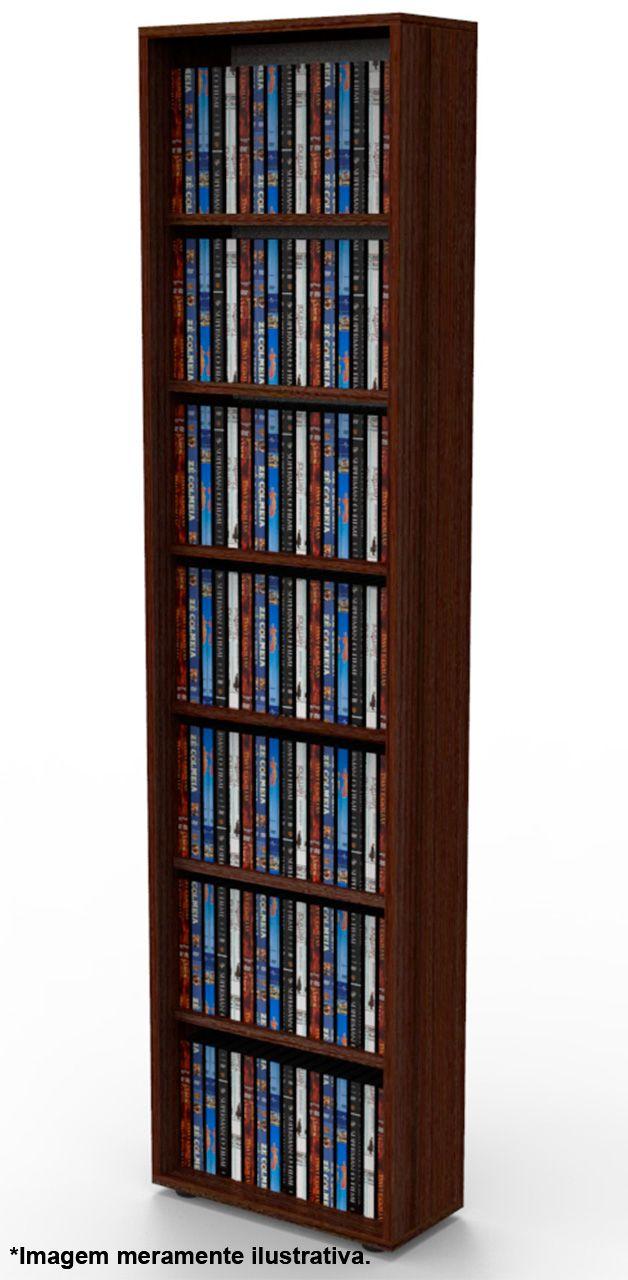 Estante para 168 DVD ou Blu-ray ou para gibis tabaco DV01TB Bürohaus