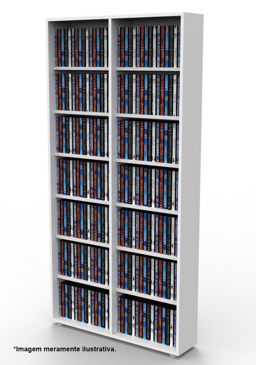 Estante para 336 DVD ou Blu-ray ou para gibis branca DV02BR Bürohaus