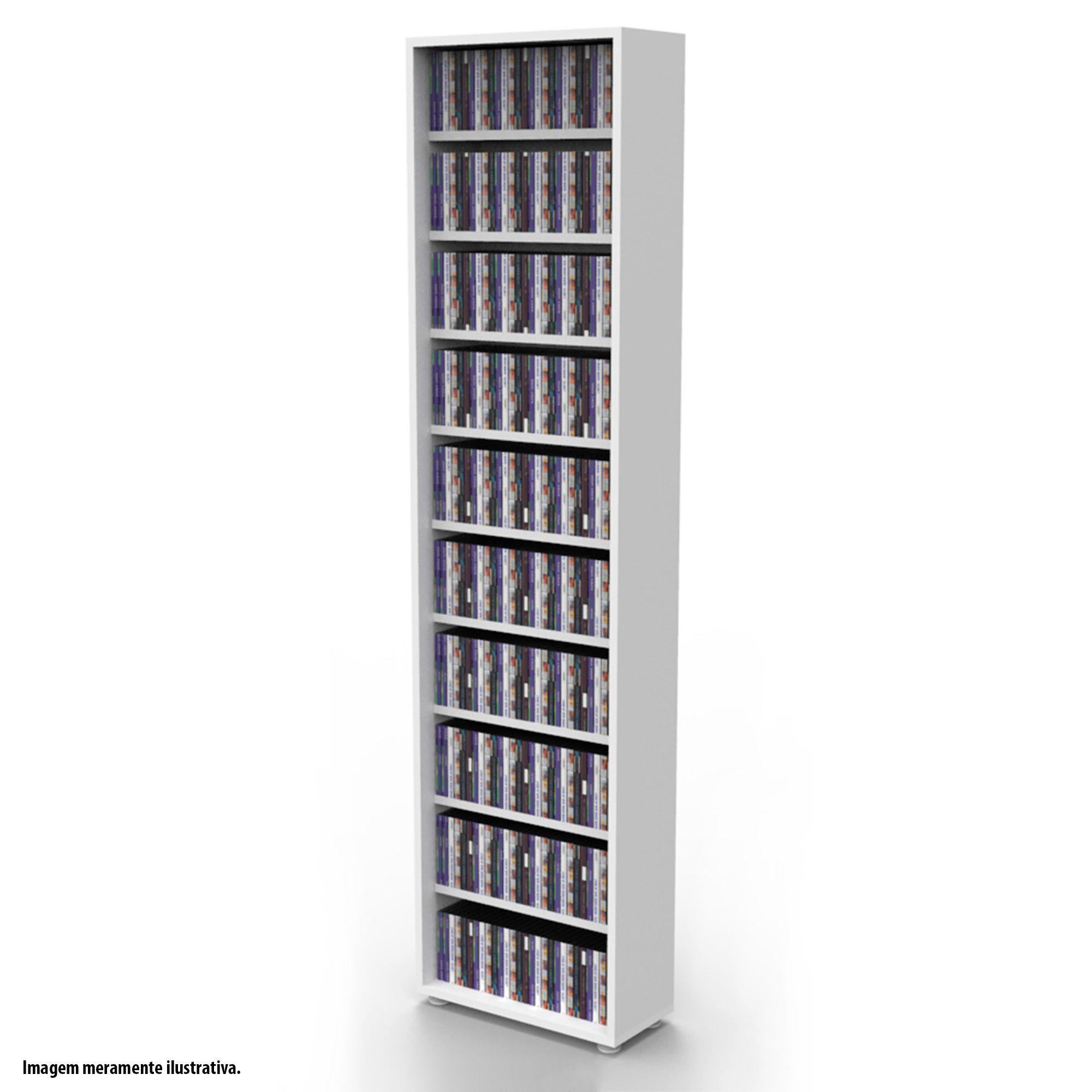 Estante para 360 CDs branca CD01BR Bürohaus