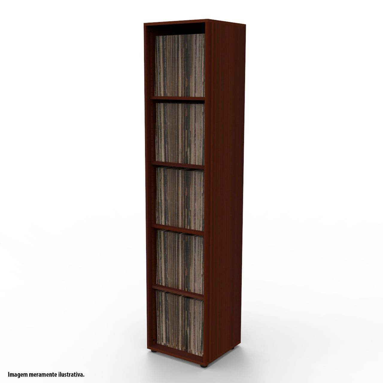 Estante para 450 discos LP vinil tabaco VN01TB Bürohaus