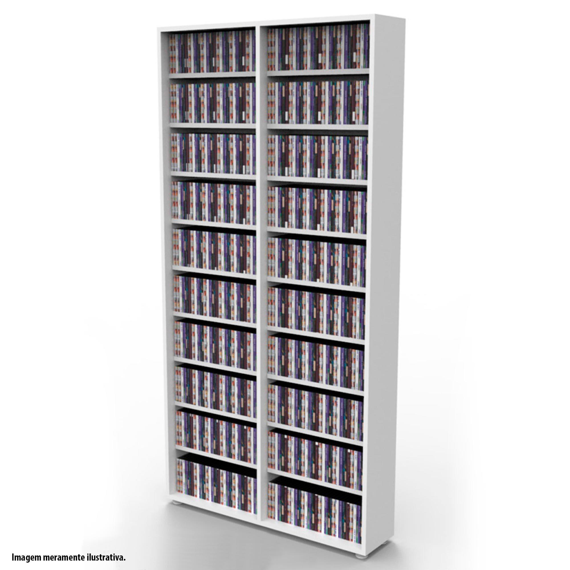 Estante para 720 CDs branca CD02BR Bürohaus