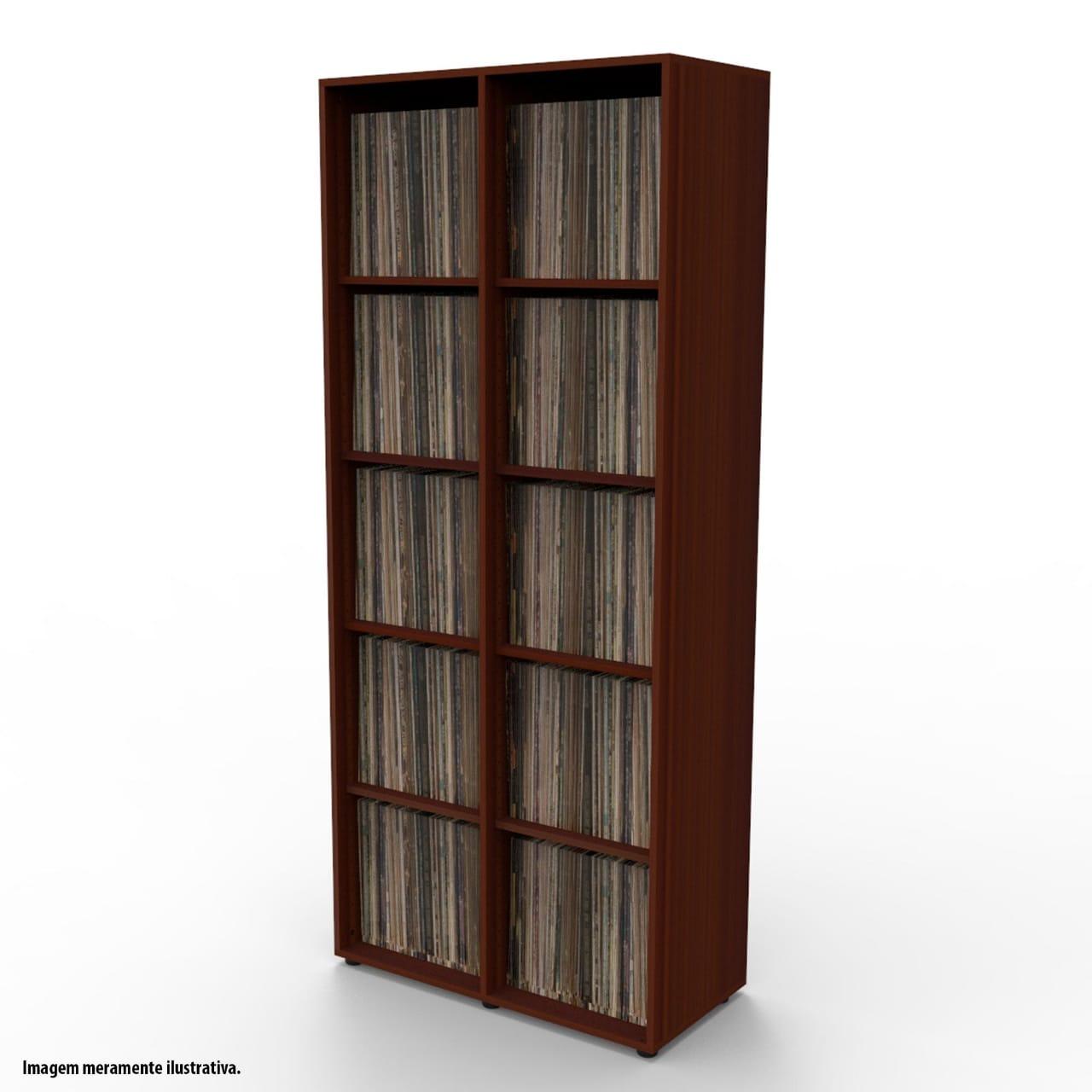 Estante para 900 discos LP vinil tabaco VN02TB Bürohaus
