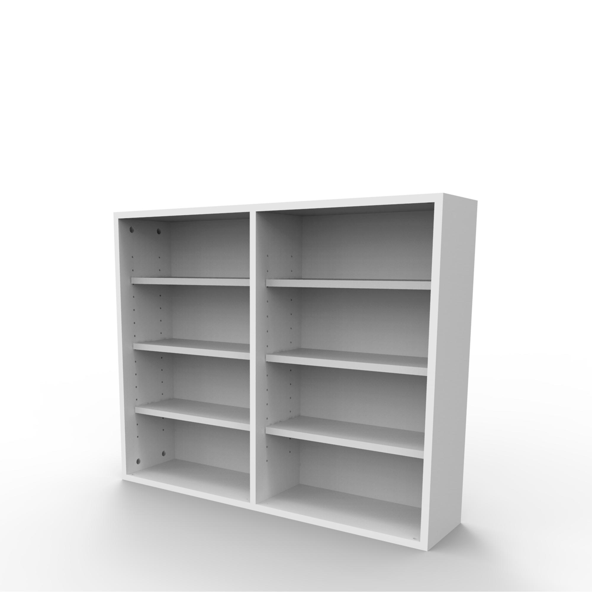 Estante de parede para 288 CDs ou 144 DVDs branca EC02BR Bürohaus