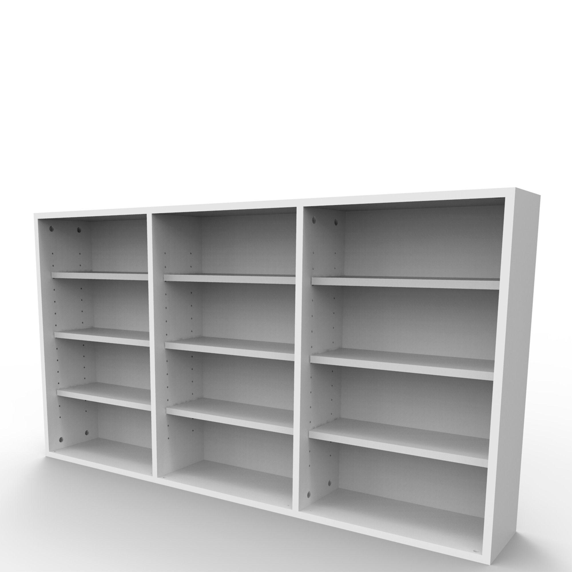 Estante de parede para 432 CDs ou 216 DVDs branca EC03BR Bürohaus