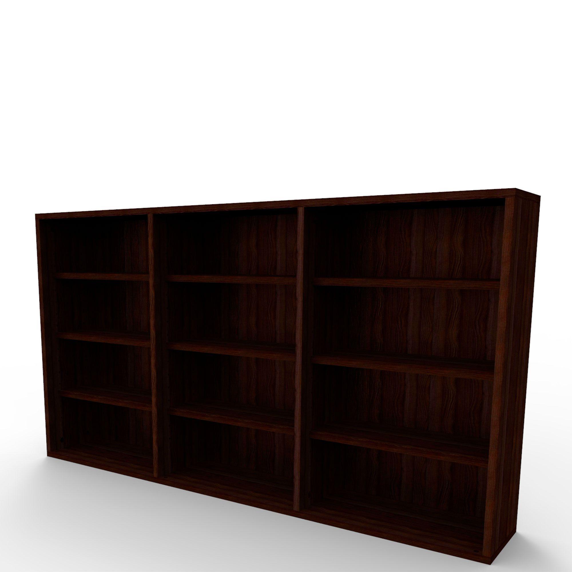 Estante de parede para 432 CDs ou 216 DVDs tabaco EC03TB Bürohaus