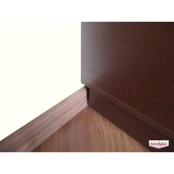 Estante VINIL/LIVROS/MULTI 450 Vinis Tabaco com porta de vidro incolor sem chave Bürohaus