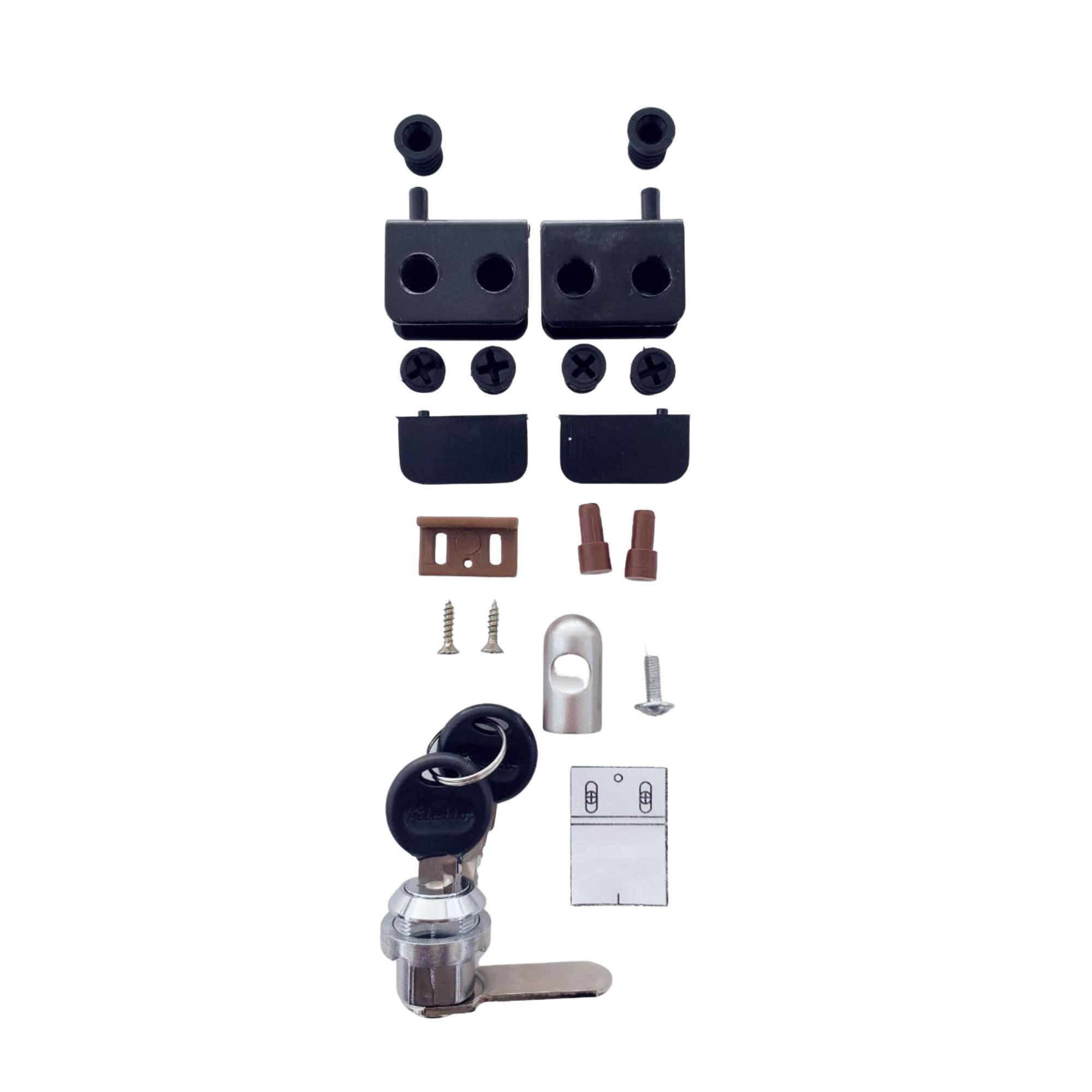 Kit de dobradiças/ferragens para 1 porta de vidro com projeto Bürohaus