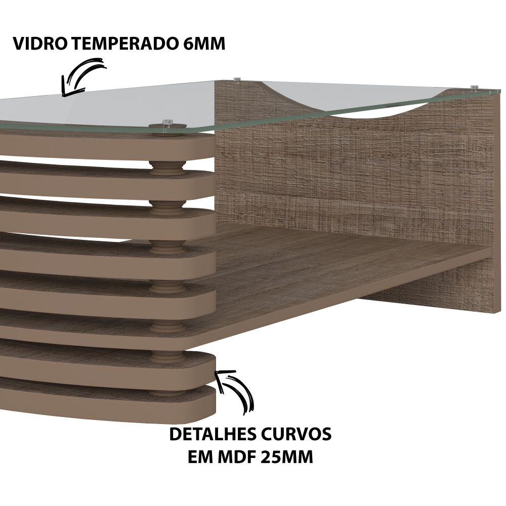 Mesa de centro Sonatta cor canela Artely