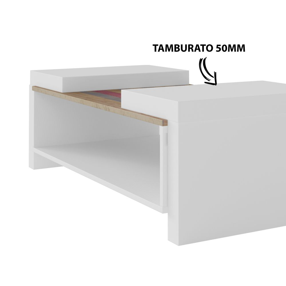 Mesa de centro Veneza branco com antique Artely