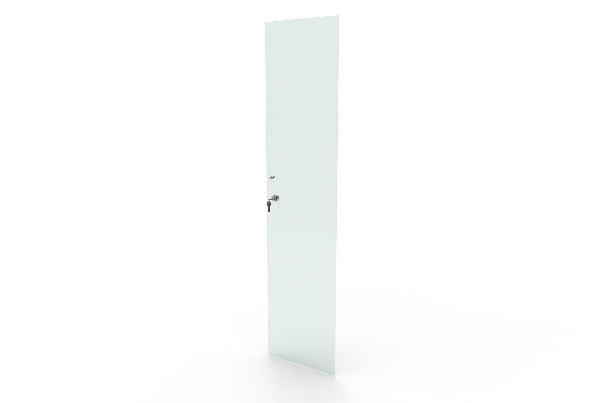 Porta de vidro incolor com chave para estante BK Bürohaus
