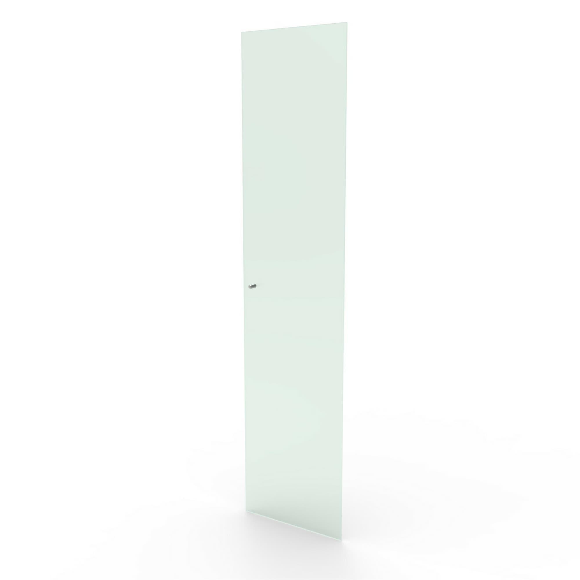 Porta de vidro incolor sem chave para estantes das linhas CD e DV Bürohaus