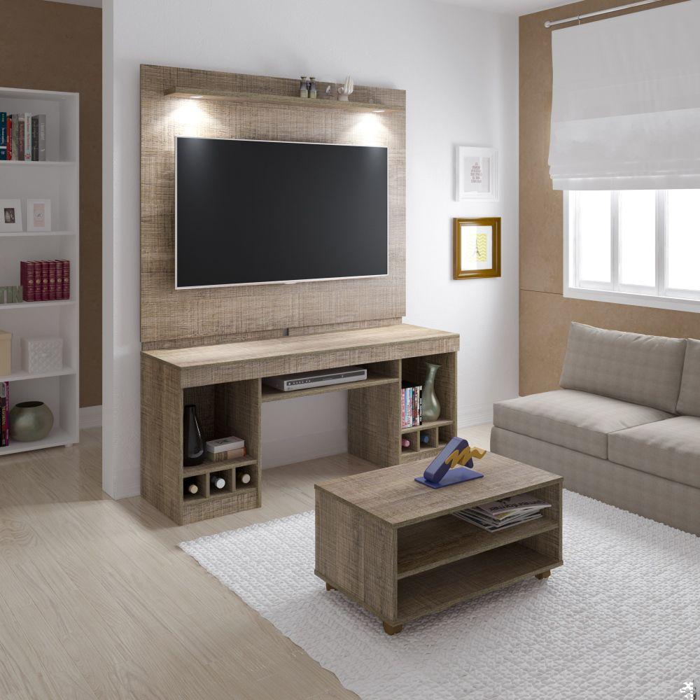 Rack System com mesa de centro Artely para TV até 47
