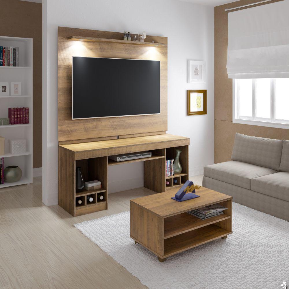 """Rack System com mesa de centro Artely para TV até 47"""""""