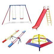 Promoção Playground de Ferro Completo 4 Brinquedos