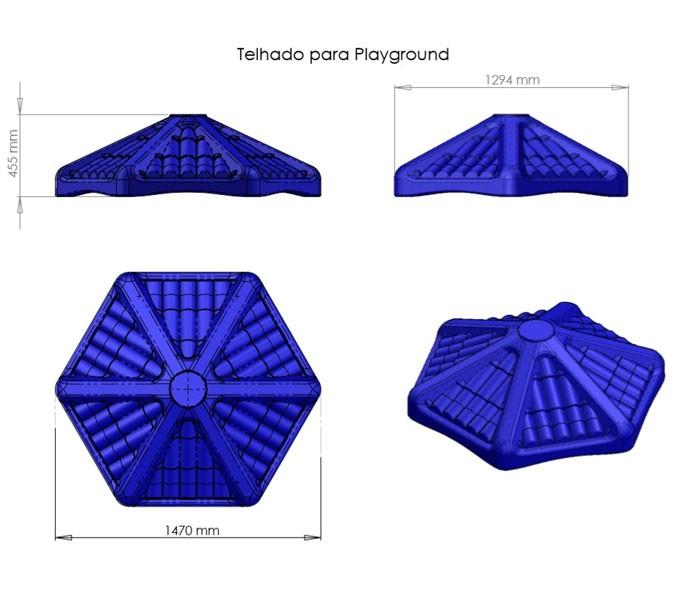 AQUARIUS PETIT COM TELHADINHO  - Casinha Infantil Decorlazer