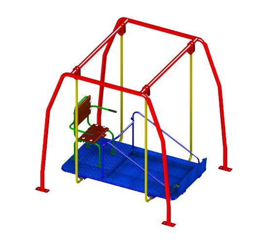Balanço Infantil Adaptado Cadeirante  - Casinha Infantil Decorlazer