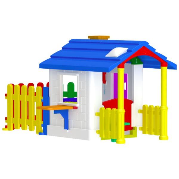 CASINHA DE CAMPO COM CERQUINHA  - Casinha Infantil Decorlazer