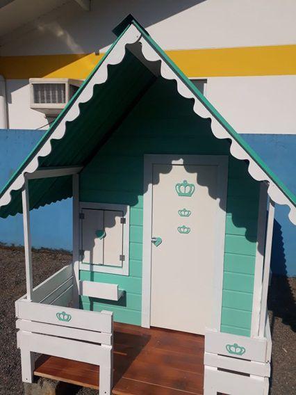 MINI CASINHA DE MADEIRA DA GIGI   - Casinha Infantil Decorlazer