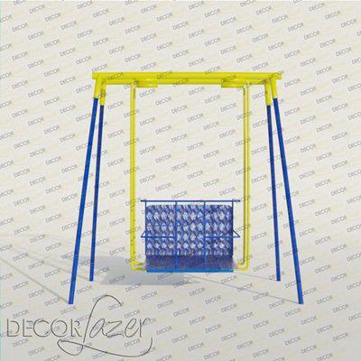 PLAYGROUND ADAPTADO CADEIRANTE BALANÇO AMERICANO SIMPLES   - Casinha Infantil Decorlazer