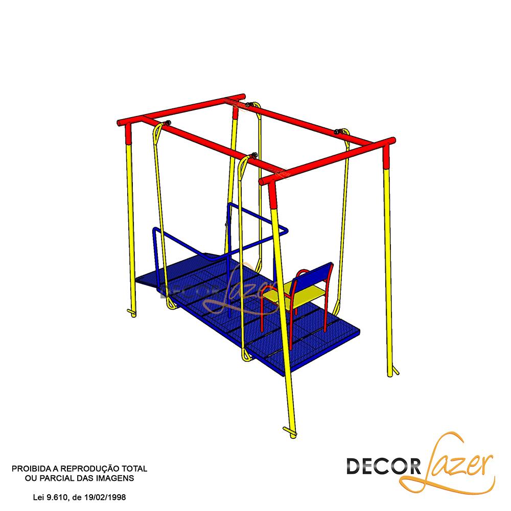 PLAYGROUND ADAPTADO CADEIRANTE BALANÇO FRONTAL  - Casinha Infantil Decorlazer
