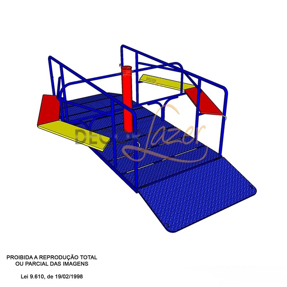 PLAYGROUND ADAPTADO CADEIRANTE GIRA-GIRA   - Casinha Infantil Decorlazer