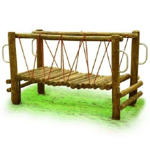 Playground de Madeira Ponte Desfiladeiro - Tronco de Eucalipto