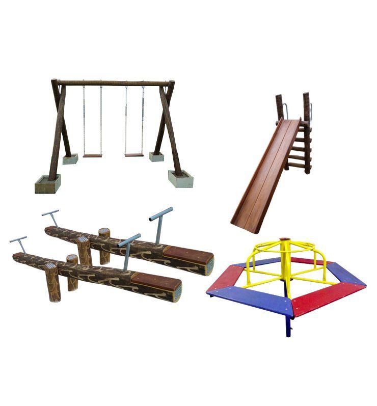 PROMOÇÃO 01 PLAYGROUND DE MADEIRA COM GIRA   - Casinha Infantil Decorlazer