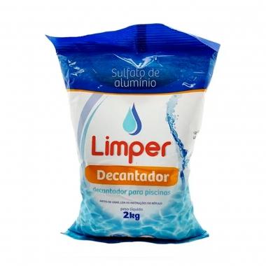 Decantador Para Piscinas Limper Sulfato De Alumínio 2kg