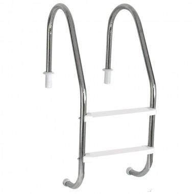 Escada para piscina com 2 Degraus de 1 1/2 em abs anatômico