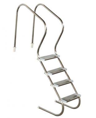 Escada de Piscina para Idoso, Obeso e Fisioterapia 4 Degraus em Inox