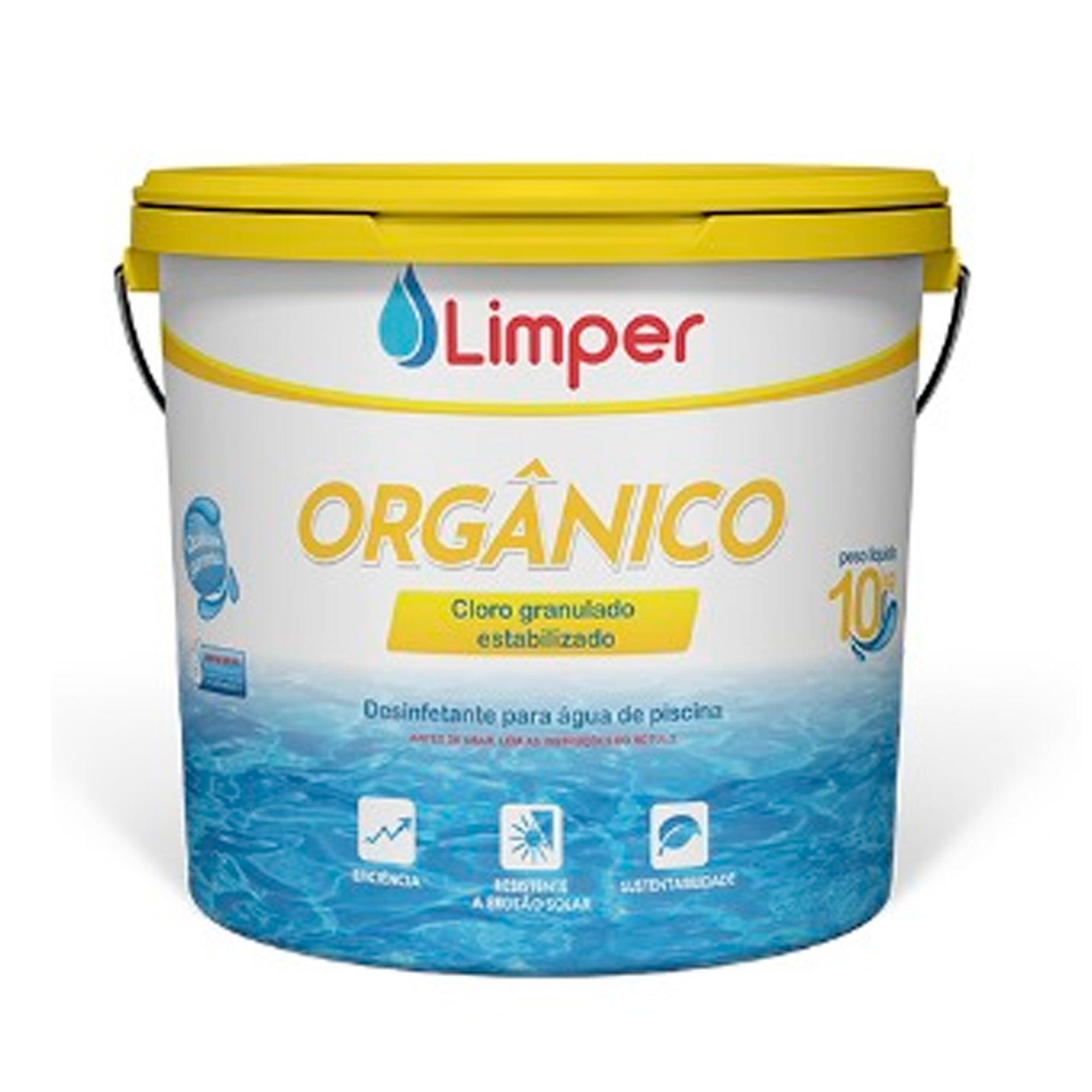Cloro Granulado Dicloro orgânico Limper 10kg