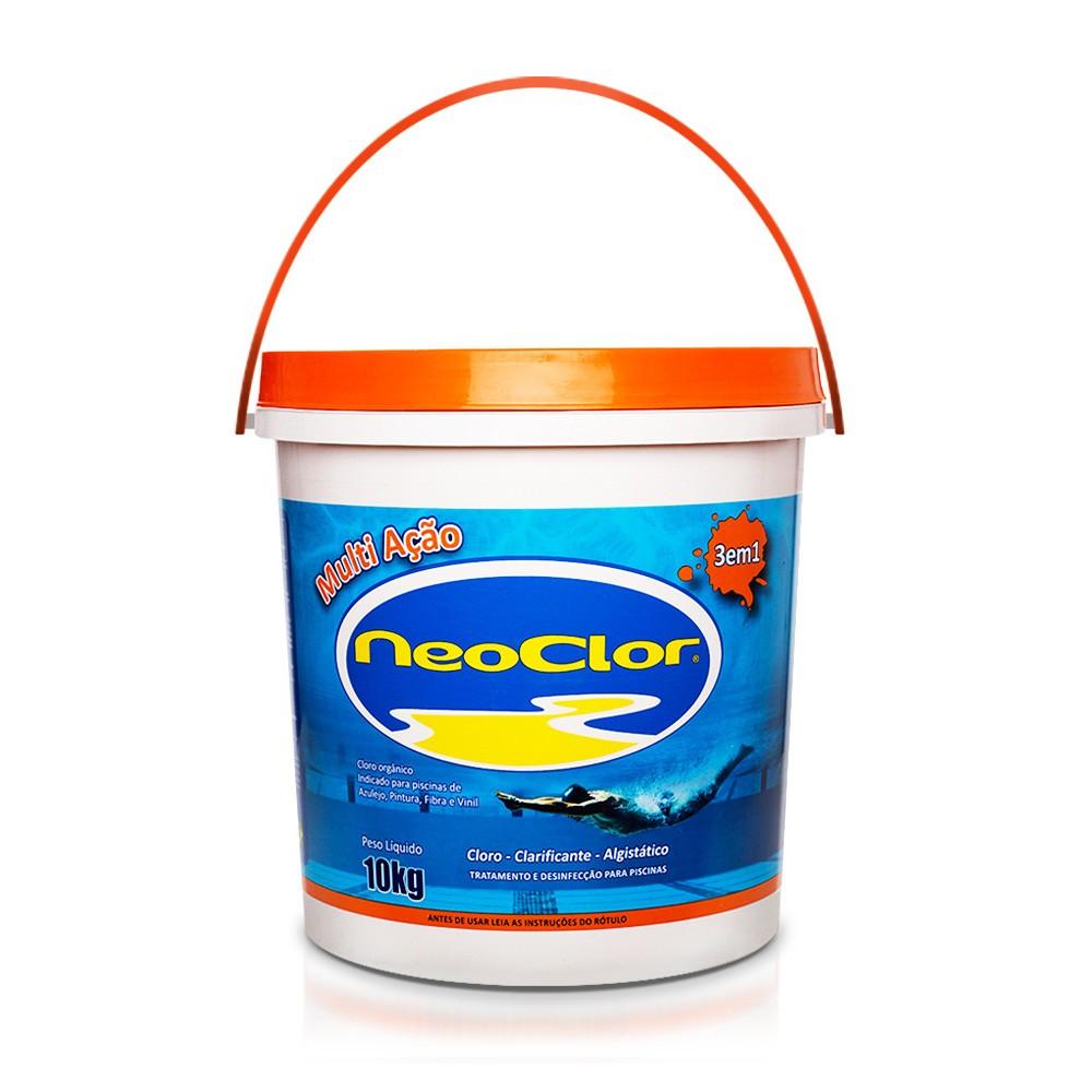 Cloro Granulado Multi Ação Neoclor 3 em 1 - 10 Kg