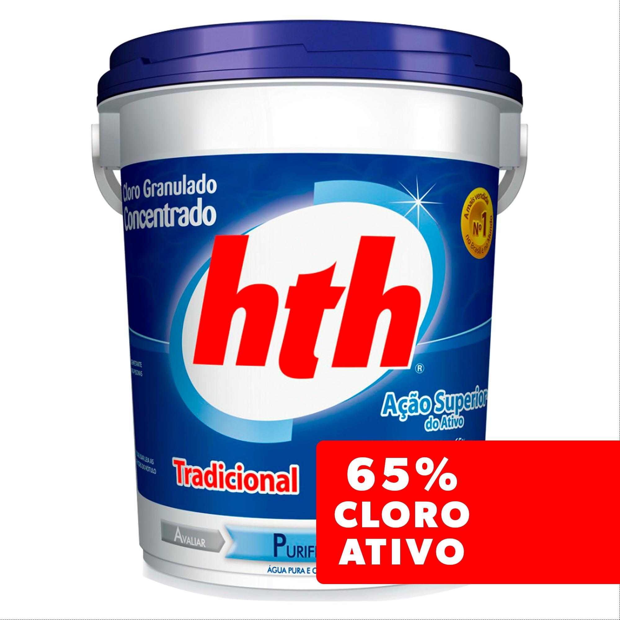 Cloro Granulado HTH Tradicional 65% de Cloro Ativo - 10 Kg