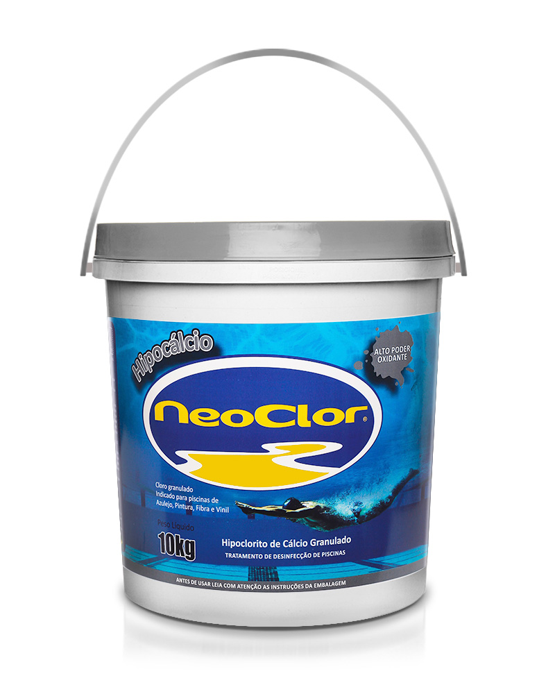 Cloro Granulado para Piscina 10 Kg  Hipocalcio Neoclor