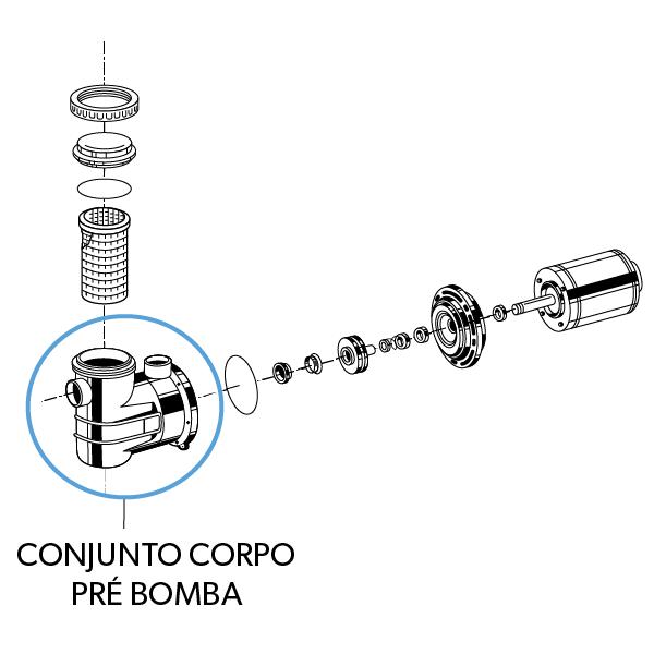Conjunto Corpo Pré Bomba B ABS+FV JACUZZI