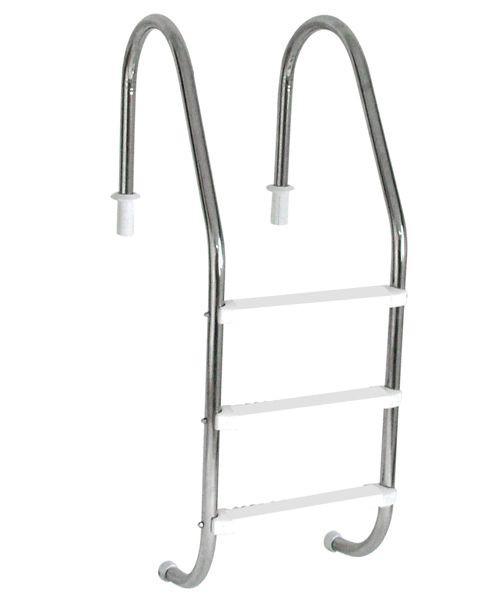 Escada em Aço  Inox com 3 Degraus em ABS anatômico SODRAMAR